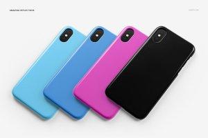 逼真的iPhone X塑料材质手机壳样机展示模型mockups插图13