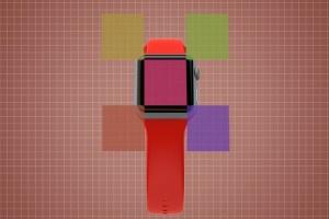 Apple智能手表APP设计展示设备样机V.3 Apple Watch Mockup V.3插图10