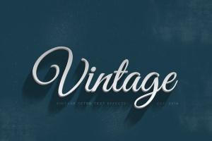 14个复古风格立体特效PS字体样式 14 Vintage Retro Text Effects插图8