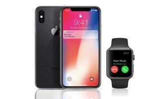 高品质的iPhoneX和Apple Watch展示模型下载[psd,ai,eps,png]插图2