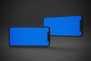 黑色背景iPhone 11智能手机屏幕预览样机 Dark iPhone 11 Mockup插图13