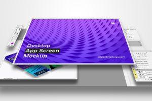 桌面应用程序设计屏幕预览样机01 Desktop App Screen Mockup 01插图1
