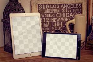 iPad Air&iPad Mini平板电脑屏幕设计预览样机模板 iPad Air 2, iPad Mini 3 Mockup插图2
