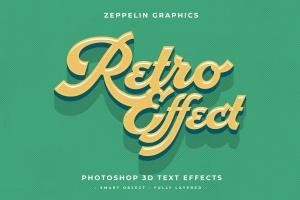 复古设计风格3D立体字体样式PSD分层模板v7 Vintage Text Effects Vol.7插图6