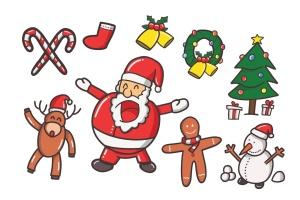 圣诞节主题元素矢量图形设计素材 Christmas Vector插图2