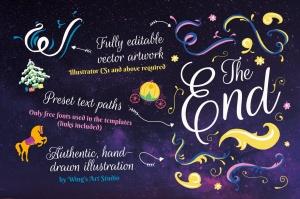 梦幻童话手绘矢量插画素材包 Fairy Tale Illustration Bundle插图11