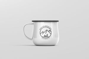 高分辨率圆形珐琅杯子样机 Round Enamel Mug Mockup插图7