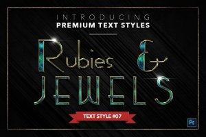 20款红宝石&珠宝文本风格的PS图层样式下载 20 RUBIES & JEWELS TEXT STYLES [psd,asl]插图8