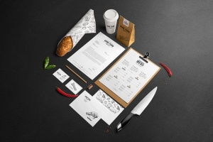 高端美食餐厅品牌展示样机 Restaurant Food Mockup插图2