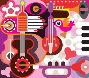 音乐主题矢量抽象背景素材 Abstract Musical Background插图3