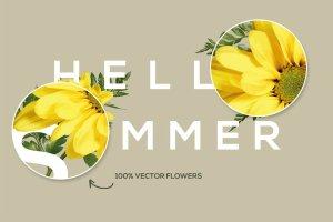 美丽花卉布局排版AI图层样式 FlowerType for Illustrator插图3