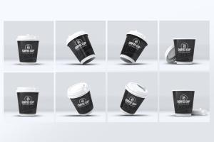 咖啡纸杯外观设计效果图样机模板 Coffee Cup Mock-Up V.2插图2