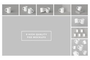 高品质时尚的马克杯样机套装 Mugs Mockups Pack插图9