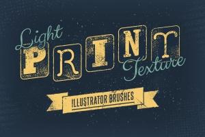 噪点/半色调/磨损效果AI画笔笔刷工具包 Light Print Texture Illustrator Brushes插图1
