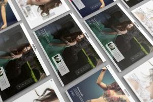 3D平板电脑屏幕网站设计演示样机 3D Tablet Screen Mockups插图1