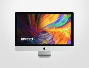 2019款iMac一体机电脑样机模板 iMac 2019 Retina Mockup插图2