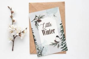 冬季元素水彩手绘剪贴画PNG素材 Winter Watercolor Collection插图4
