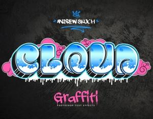 街头涂鸦文字效果PSD分层模板v3 Graffiti Text Effects Vol.3插图4