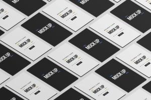等距平铺企业名片设计样机模板 Business Card Mock Up插图13