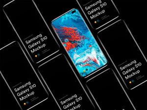 三星智能手机S10超级样机套装 Samsung Galaxy S10 Mockups插图51