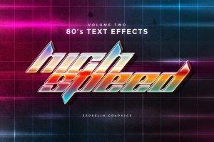 80年代文本图层样式 80s Text Effects插图5