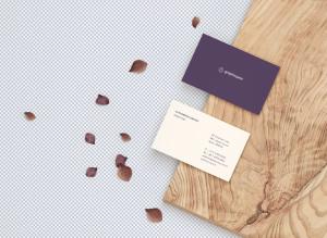 名片设计前视图&后视图样机模板 Front & Back Business Card Mockup插图2