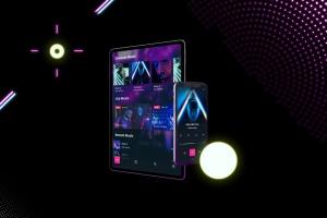 霓虹灯背景iPhone XS & iPad Pro样机模板 Neon iPhone XS & iPad Pro插图3