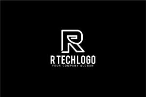创意字母Logo模板系列之字母R R tech logo插图3
