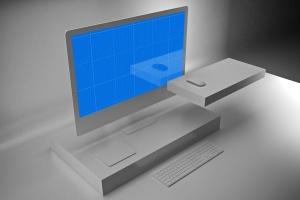 极简设计风格iMac一体机电脑样机v2 Clean iMac Pro V.2插图8