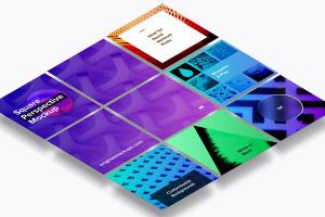 方形自媒体社交宣传设计效果图透视样机03 Square Perspective Mockup 03插图1