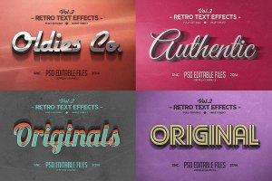 一流设计素材网下午茶:150款3D文字效果的PS图层样式 150 3D Text Effects for Photoshop–2.61 GB插图17