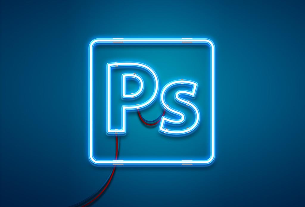 霓虹灯效果PS智能样机图层样式PSD分层模板 Neon Light Photoshop Effect Mockup插图