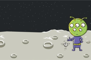 绿色外星人矢量插画设计素材 Green Alien Vector Illustration插图2