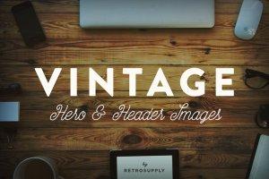 12款复古风巨无霸场景广告模板 12 Vintage Hero Images (+ Bonus)插图1