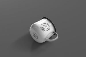 高分辨率圆形珐琅杯子样机 Round Enamel Mug Mockup插图3