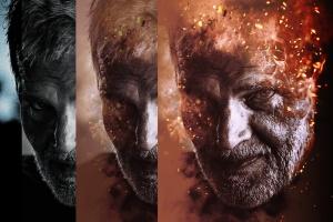 炫酷人像照片燃烧特效处理PSD图层样式 Burning Fire Photo Effect插图2