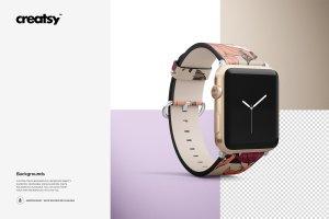 一流设计素材网下午茶:高品质的Apple Watch表带展示模型Mockup下载 1.27 GB[psd]插图10