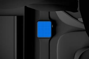 时尚深色Apple智能手表样机模板 Dark Apple watch插图11