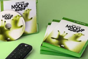 Xbox One游戏光盘封面&包装设计效果图样机 Xbox One Disc Case Mockup插图4
