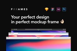 超实用跨平台设备设计演示框架样机合集 Frrames Mockups插图1