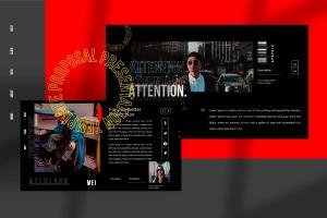 潮时尚酷黑背景Keynote幻灯片模板下载 Hypetone – Keynote插图7