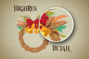 圣诞气氛装饰手绘矢量图案设计素材 Christmas Vibes插图4