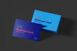 UK标准规格企业名片设计预览图样机模板06 UK Business Cards Mockup 06插图3