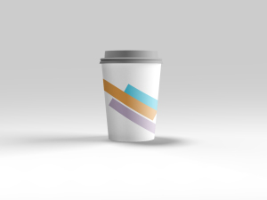 咖啡纸杯定制设计图样机模板 Coffee Cup Mockup插图1