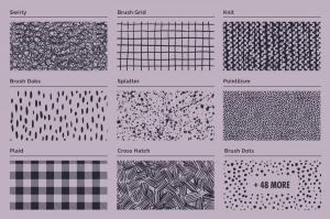 70年代转印凹模样板图案纹理套装 LITHOTONE: Distressed Pattern Swatches插图5