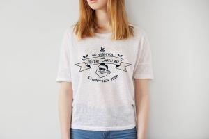 圣诞快乐&新年主题T恤印花图案设计素材 Merry Christmas and New Year T-Shirt. Xmas Print插图(3)