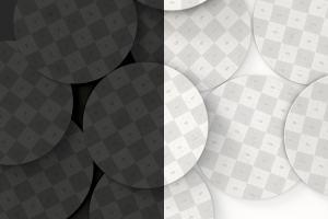 圆形纸杯垫品牌标识展示样机01 Round Coaster Mockup 01插图1