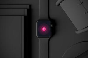 时尚深色Apple智能手表样机模板 Dark Apple watch插图5