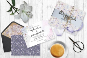 烟灰色水彩花卉手绘图案PNG素材 Smoky Grey Florals Watercolor Design Set插图2