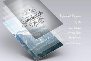 复古怀旧风格照片图层样式 Sandwich – Photo Overlays Creator插图3